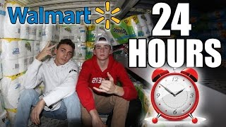 24 HOUR CHALLENGE IN WALMART! (How to Get Banned From Walmart!)
