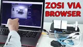 Zosi IP camera via Web Browser…
