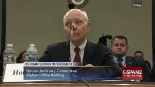IRS Chief Koskinen Calls Impeachment