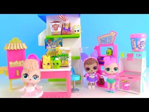 Куклы Лол Мультик! Сестры Лол в Супермаркете Шопкинс! Lol Surprise