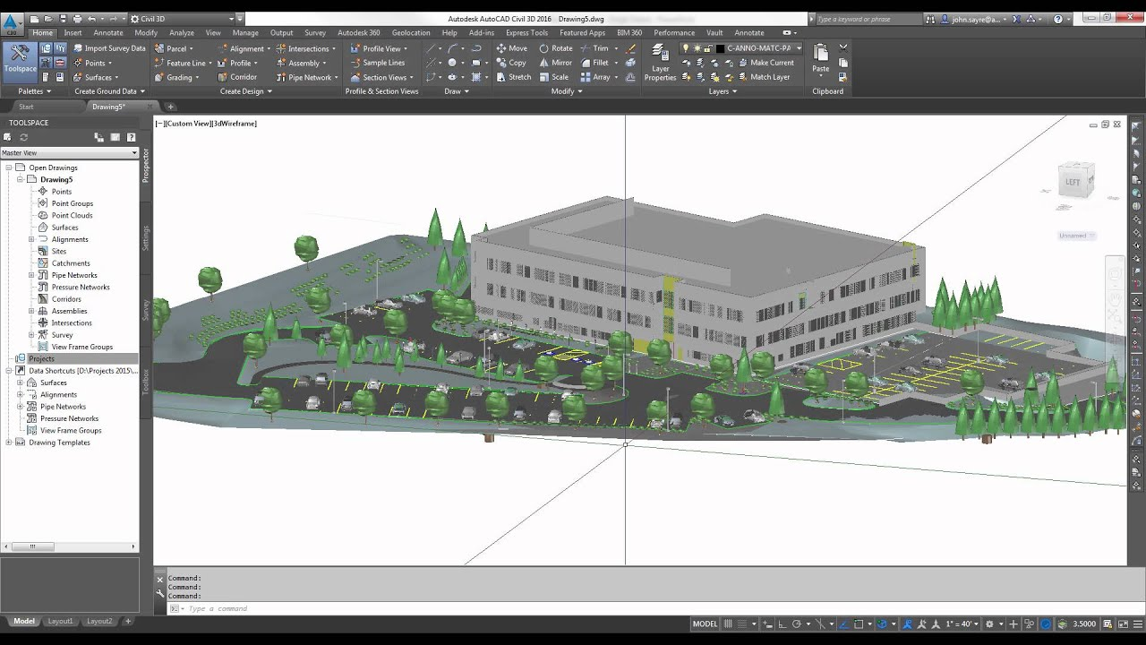 Autocad civil 3d 2016 new feature using coordination 3d site