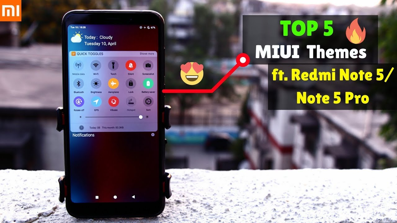 Top 5 MIUI Themes You MUST TRY ft  Redmi Note 5/ Redmi Note 5 Pro
