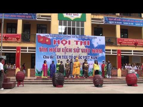 Màn chào hỏi trường THCS Đoàn Thị Điểm (DIÊN HỒNG)