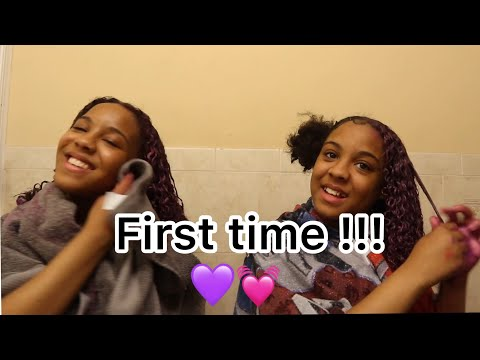 Coloring our hair PINKISH PURPLE 💜💗 ( storytime )