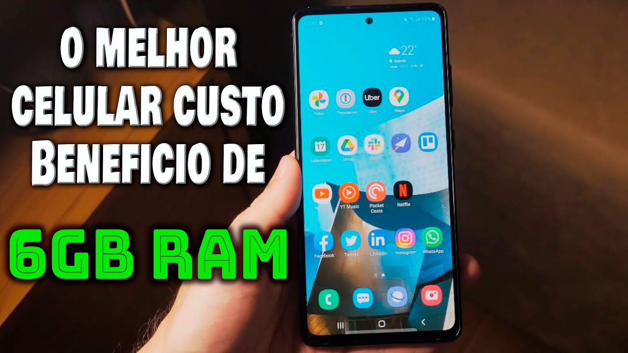 MELHOR CELULAR BOM E BARATO DE 6GB RAM JUNHO 2021