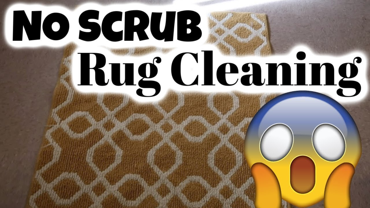 No Scrub Rug Cleaning / how to clean
