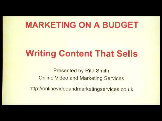 Marketing On  A Budget episode 6 Writing Content that Sells