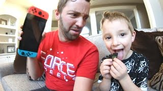 5 Year Old TASTES Nintendo Switch Games? (TASTES DISGUSTING!!)