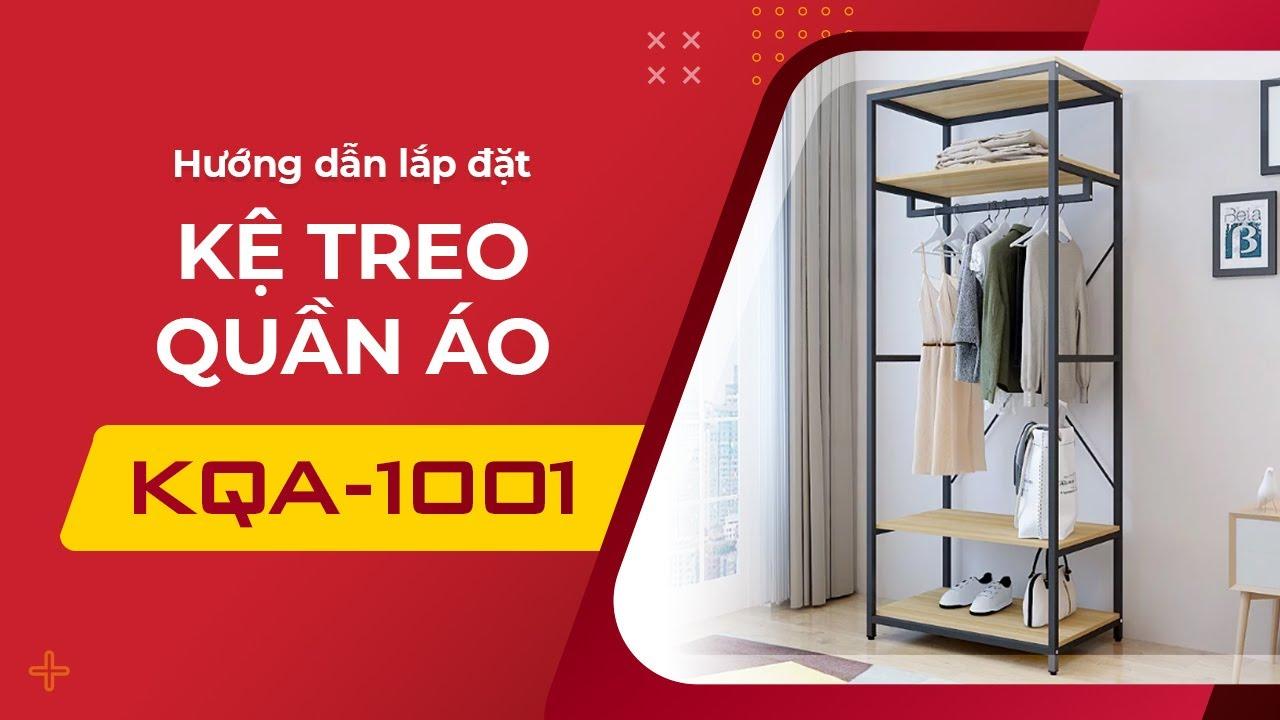Hướng dẫn lắp kệ tủ quần áo KQA1001-1 KENA