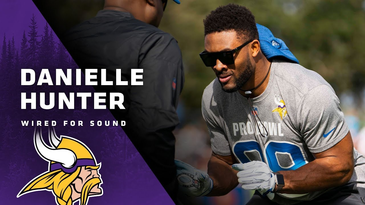 new concept 4a232 fc518 Wired For Sound: Danielle Hunter at Pro Bowl Practice | Minnesota Vikings