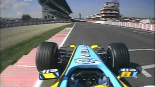 F1 Spain 2005 FP4 - Fernando Alonso 2 Agressive Laps Onboard!