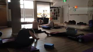 Yin Yoga Stretching Hamstrings at Soulful Fitness Lane Cove