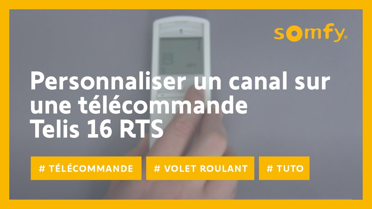 Reinitialiser Telecommande Store Banne Somfy Remise Zero Volet Roulant Somfy