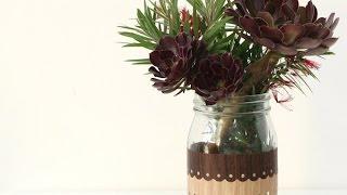 Create an Easy Woodgrain Jar - DIY Crafts - Guidecentral