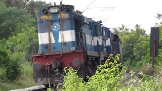 Rebuilt WDM 3A leads WDM 3D followed by Vijayawada Passenger : Indian Railways