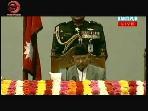 President Dr Ram Baran Yadav  present the policies and programmes for 2009-10  PART 1 of 6