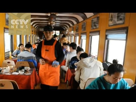 Old-school train turned into cafeteria in Shandong