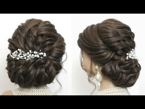 New Hairstyle For Wedding. Latest Bridal Updo. Hair Tutorial thumbnail