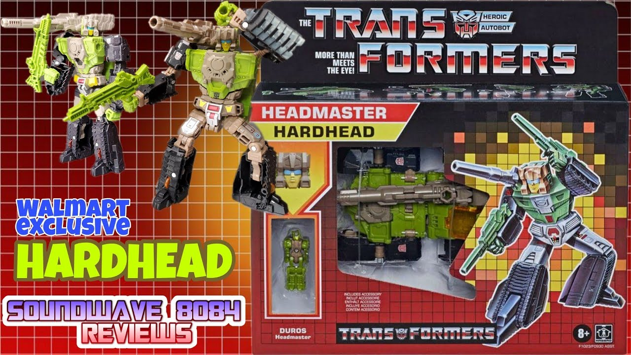 Walmart Exclusive Headmasters Hardhead Reissue Review By Soundwave 8084