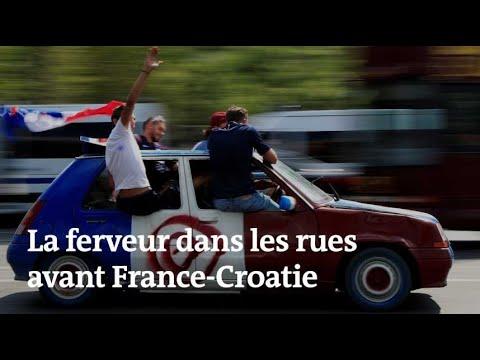 Coupe du monde 2018 : avant France-Croatie, la ferveur dans les rues de Paris