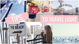 How to travel light | Tips for packing | Axelle Blanpain
