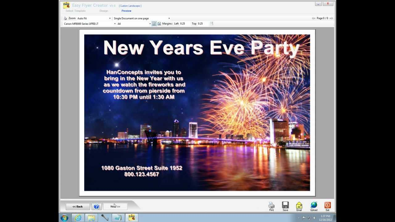 easy flyer creator makes a holiday flyer wmv youtube
