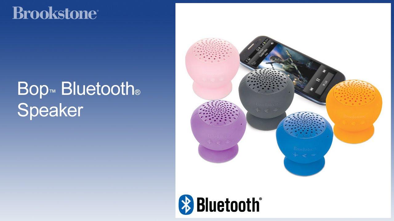 Bop bluetooth speaker by brookstone: testing device youtube.