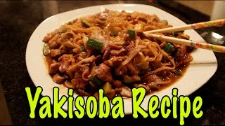 Yakisoba With Chicken & Veggies Recipe - 10 Minute Meal