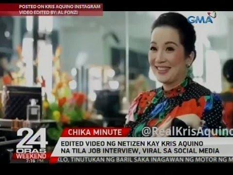 Edited video ng netizen kay Kris Aquino na tila job interview, viral sa social media