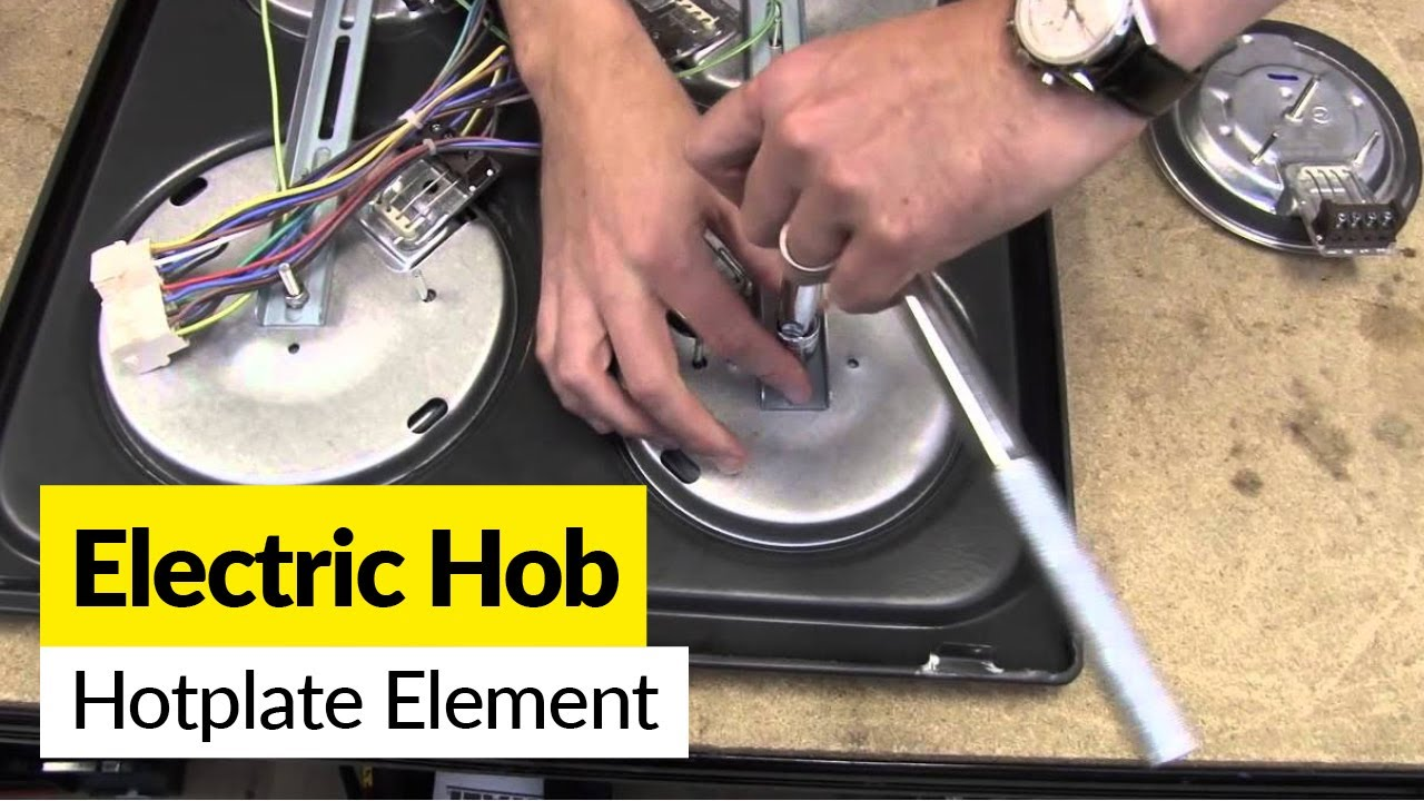 electric oven wiring diagram rockford fosgate how to replace a cooking plate on an hob - youtube