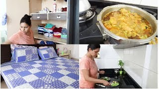 Indian Mom Busy Morning Routine|Morning Cleaning Routine |Chicken Curry