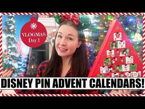 DISNEY PIN ADVENT CALENDARS! Welcome to VLOGMAS 2018! Day 1