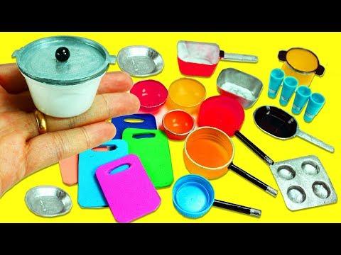 10 Miniaturas de Cocina / para Cocinar en Miniatura #1  -  Manualidades Para Muñecas