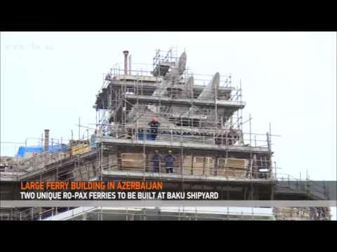 Large ferry building in Azerbaijan