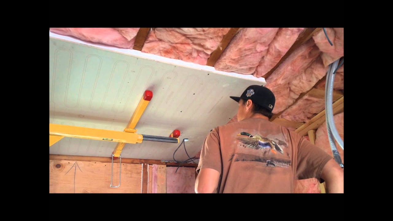 raymagic radiant cooling and heating ceiling panels installation  [ 1280 x 720 Pixel ]