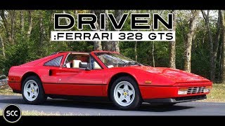 FERRARI 328 GTS 1989 - Full test drive in top gear - V8 Engine sound | SCC TV