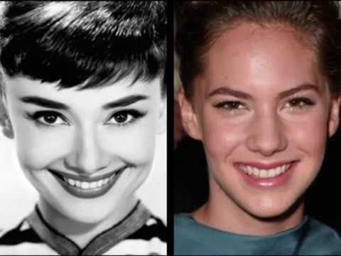 Audrey Hepburn and  Emma Ferrer  Grandmother and granddaughter