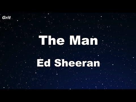 The Man - Ed Sheeran Karaoke 【No Guide Melody】 Instrumental