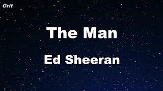 The Man - Ed Sheeran Karaoke 【No Guide Melody】 Instrumental