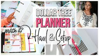 DOLLAR TREE PLANNER HAUL  | IS IT WORTH IT TO MAKE A DOLLAR STORE PLANNER? Sensational  Finds