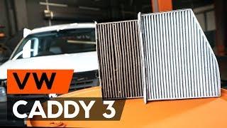 Hvordan skifte Klimafilter på VW CADDY III Estate (2KB, 2KJ, 2CB, 2CJ) - videoguide