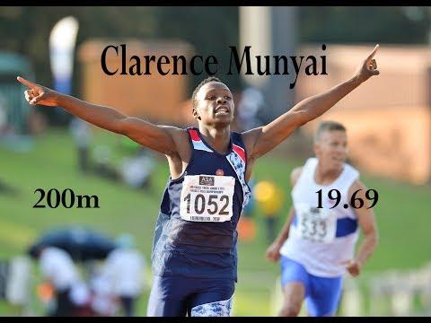 Clarence Munyai breaks South African 200m Record - 19.69
