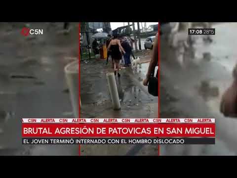 Brutal agresión de patovicas a un joven en San Miguel