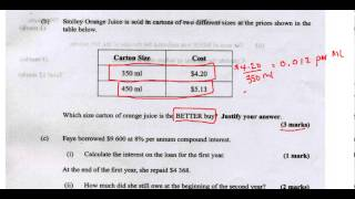 csec cxc maths past paper 2 question 1b may 2013 exam solutions act math sat math