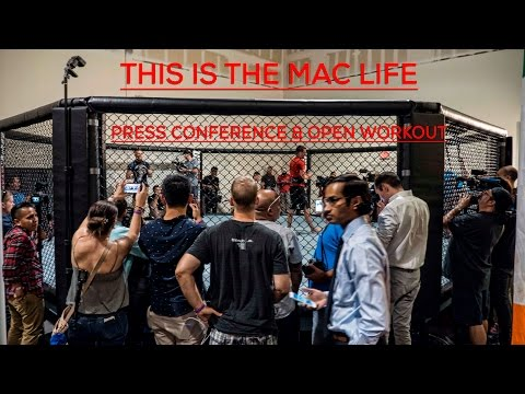 Full Conor McGregor media day conference #TheMacLife