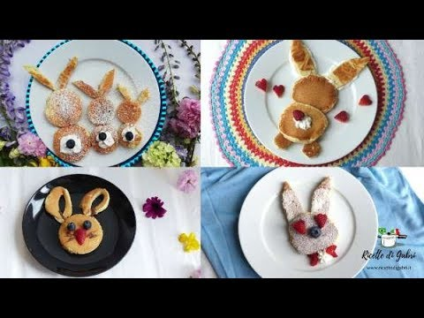 PANCAKES PASQUALI Coniglietti dolce per la colazione di PASQUA - RICETTE DI GABRI