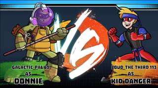 TMNT Donatello and Sky Whale vs Nickelodeon Super Brawl World - gameplay Part 2