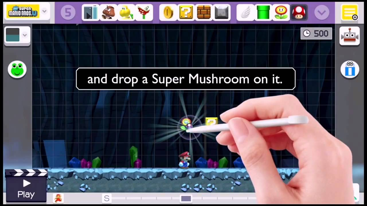 Mise A Jour Super Mario Maker Checkpoint Fleur De Feu Champignon