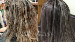 Baño De Color Para Cabello Con Mechas Lilyymakeuup Youtube
