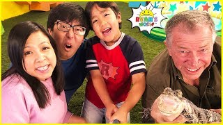 Ryan Meets Pet Alligator on Ryan's Mystery Playdate on Nickelodeon! and more fun challenges!!!